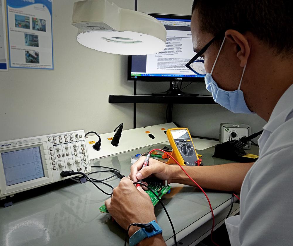 Testagem do equipamento